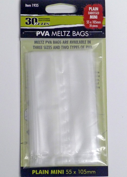 Kodex 30PLUS PVA Meltz Bags - Plain Mini (55x105mm)