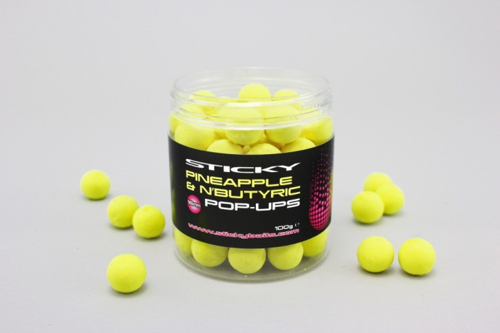 Sticky Baits Pineapple & N'Butric Pop Up´s 12mm, 100gr