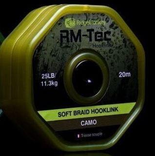 RidgeMonkey RM-Tec Soft Braid Hooklink Camo 25lb
