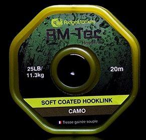 RidgeMonkey RM-Tec Soft Coated Hooklink Camo 25lb
