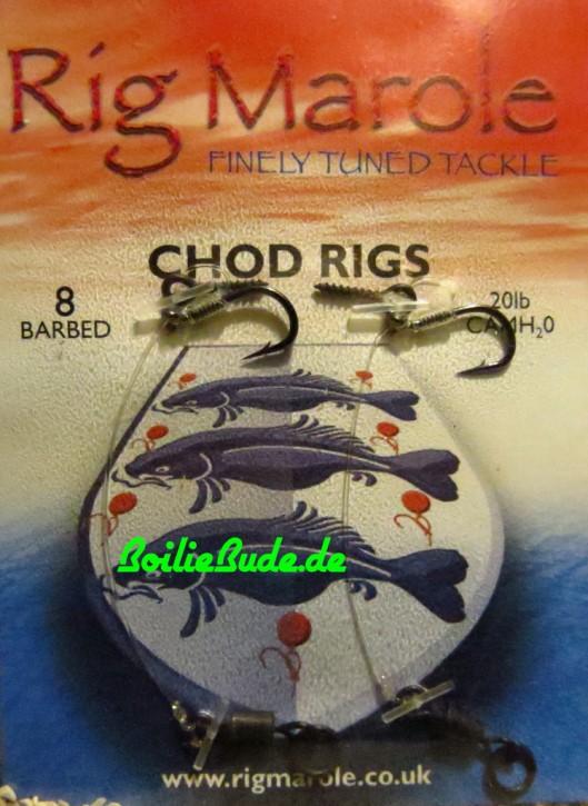 Rig Marole Chod Rigs Size 8 Barbed, mit Widerhaken