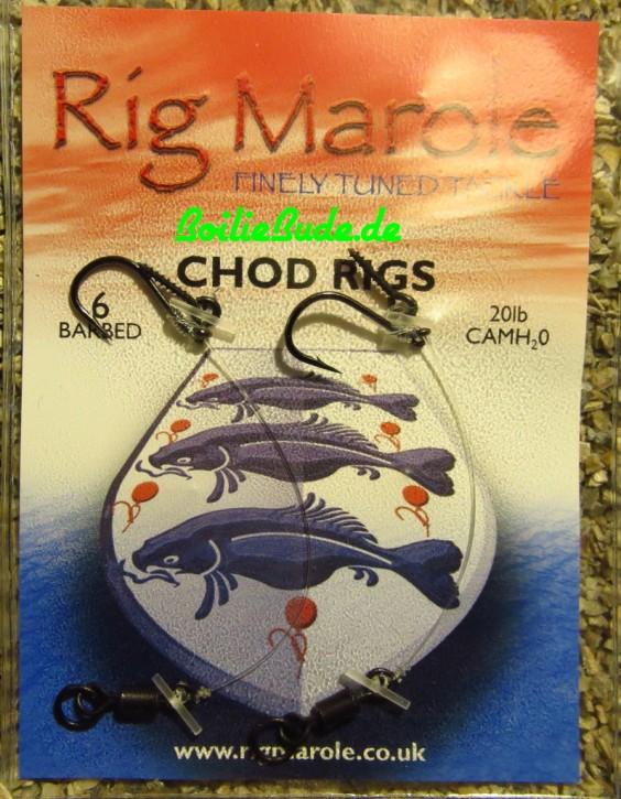 Rig Marole Chod Rigs Size 6 Barbed, mit Widerhaken