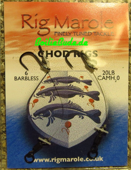 Rig Marole Chod Rigs Size 6 Barbless, ohne Widerhaken