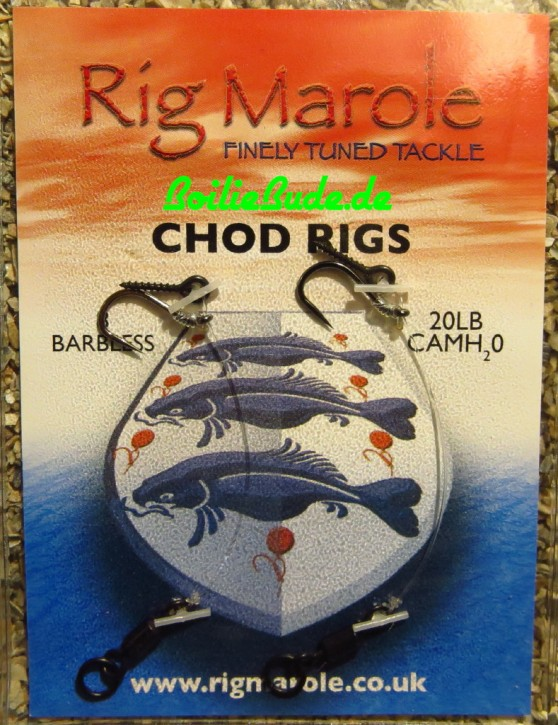 Rig Marole Chod Rigs Size 8 Barbless, ohne Widerhaken