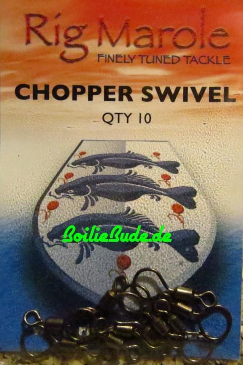 Rig Marole Chopper Swivels Black Gr.9, 10 Stück