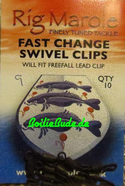Rig Marole Fast Change Swivels Black Gr.9, 10 Stück