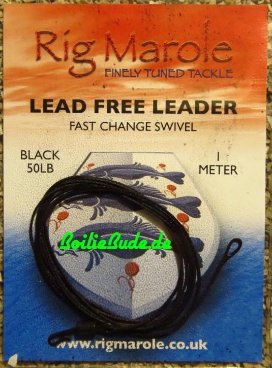 Rig Marole Lead Free Leaders Black 1m, Quick Change Swivel
