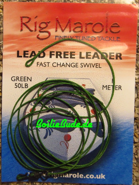 Rig Marole Lead Free Leaders Green 1m, Quick Change Swivel