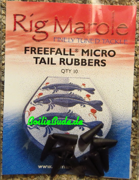 Rig Marole Free Fall Tail Rubbers Micro Black