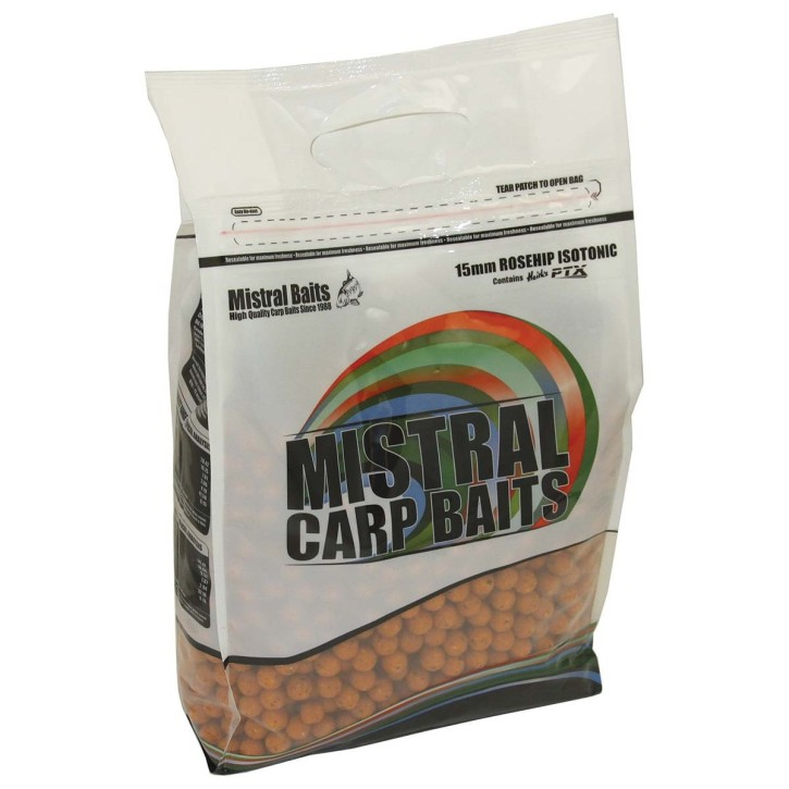 Mistral Baits Rosehip Isotonic Boilies