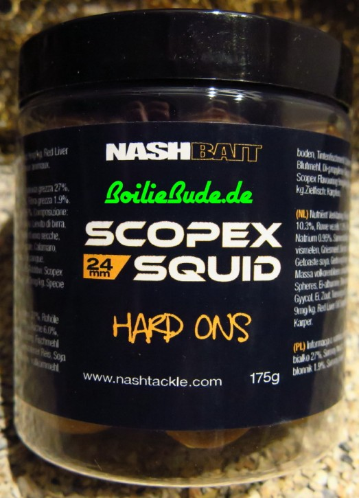 Nashbait Scopex Squid Hard On´s 24mm, 175gr.