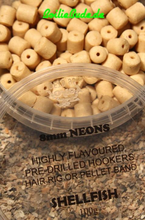Shellfish Predrilled Hookbait Pellets in 8mm