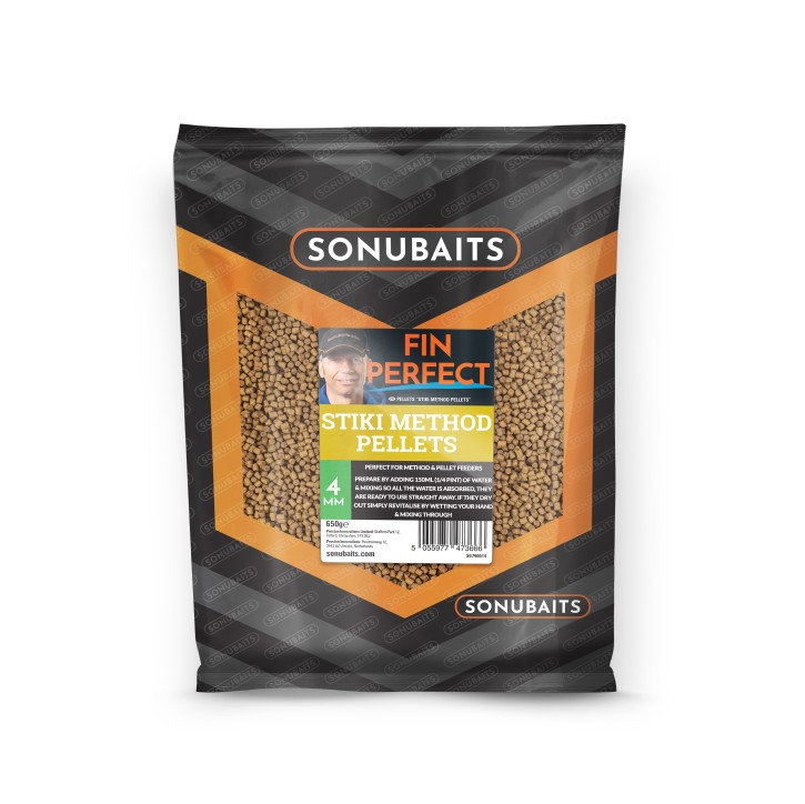 Sonubaits Fin Perfect Stiki Method Pellets 4mm, 650gr.