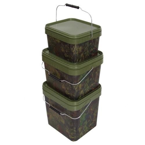 Gardner Tackle Camo Square Bucket Medium, 10 Liter