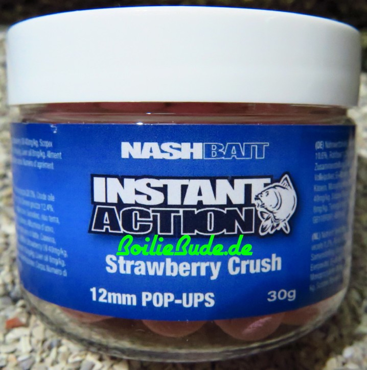 Nashbait Instant Action Strawberry Crush Pop Up´s 12mm, 30gr.