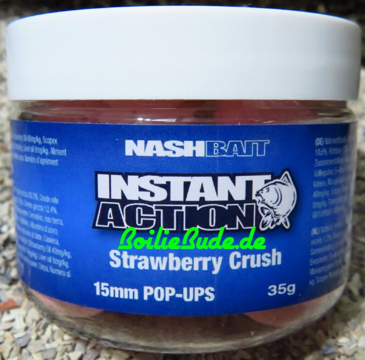 Nashbait Instant Action Strawberry Crush Pop Up´s 15mm, 35gr.