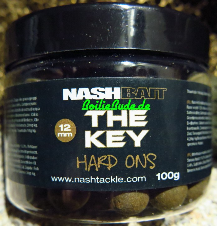 Nashbait The Key Hard-Ons 12mm, Harte Hakenköder