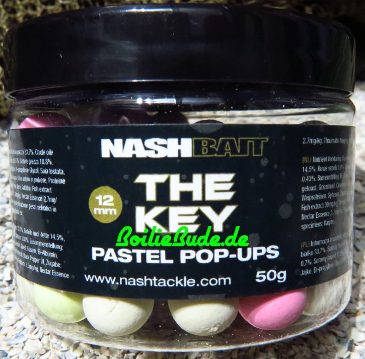 Nashbait The Key Pastel Pop Ups 12mm, 50gr.