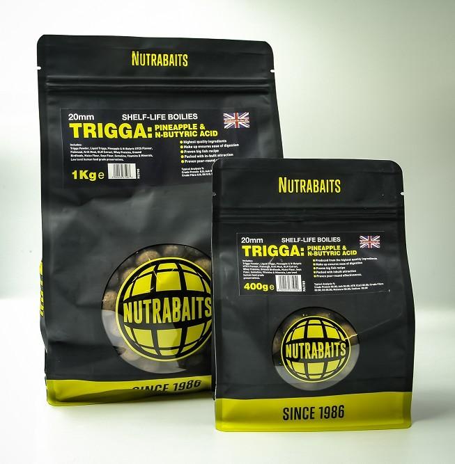 Nutrabaits Trigga Pineapple & N-Butric Boilies 15mm, 5kg