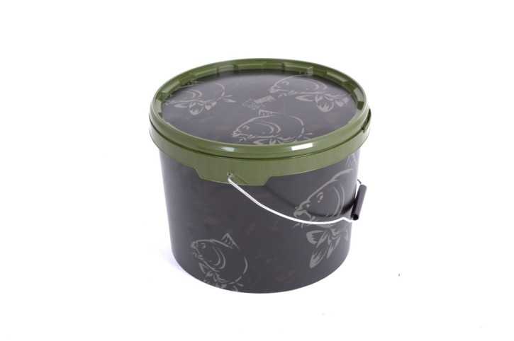 Nash Tackle Camo Bait Bucket Large, 10 Liter