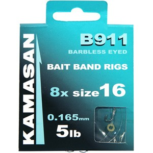 Kamasan B911 Banded Barbless Eyed Vorfachhaken