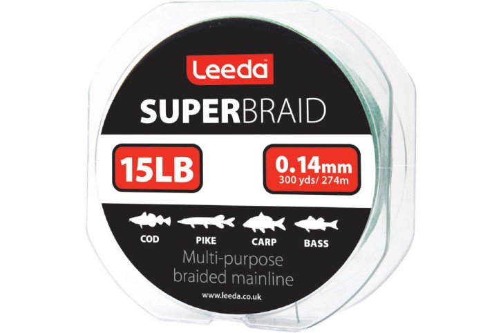 Leeda Super Braid 15lb, 274m Lauflänge