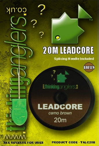 Thinking Anglers Leadcore 35LB Camo Brown/Green
