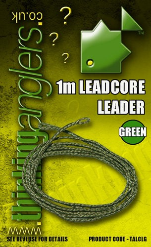 Thinking Anglers 1m Leadcore Leader 35LB Camo Green