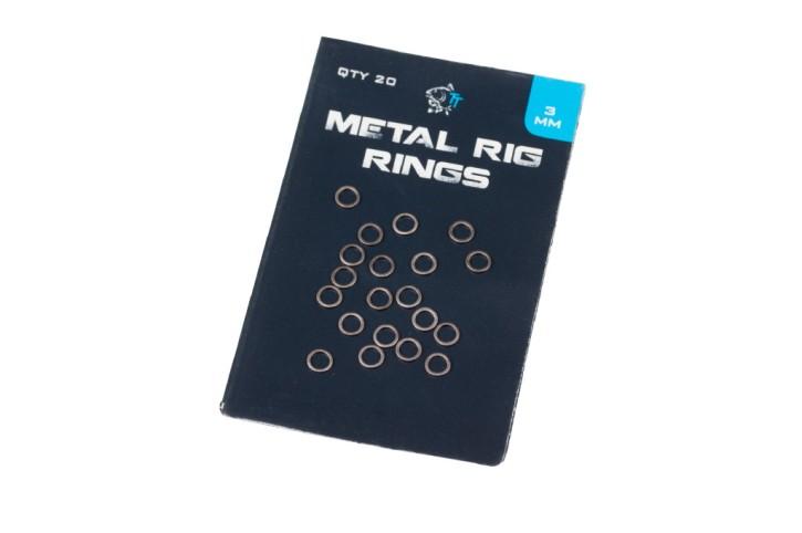 Nash Tackle Metal Rig Rings Large 3mm, rund