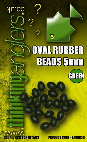 Thinking Anglers Oval Rubber Beads 5mm Green