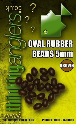 Thinking Anglers Oval Rubber Beads