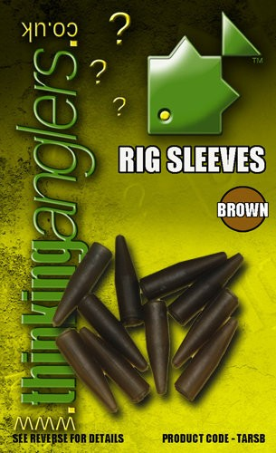 Thinking Anglers Rig Sleeves in Green und Brown