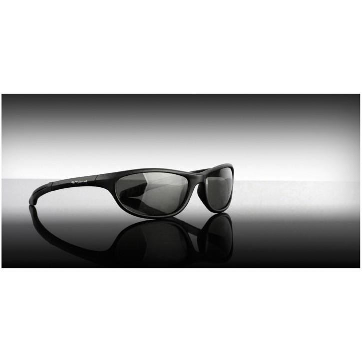 Wychwood Sunglasses Black Wrap Around Brown Lens