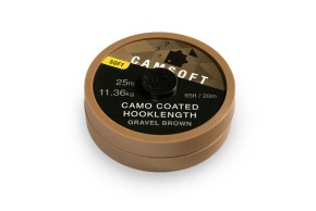 Thinking Anglers Camsoft Hooklength 18lb Camo Gravel Brown