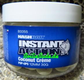 Nashbait Instant Action Coconut Creme Pop Up´s 12mm, 30gr.