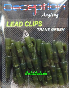 Decpetion Angling Lead Clip Trans Green plus Tailrubber