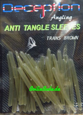 Deception Angling Anti Tangle Sleeves Trans Brown