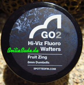 Spotted Fin GO2 Hi-Viz Fluoro Fruit Zing Wafter Dumbell 8mm, 30gr
