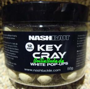 Nashbait Key Cray White Pop Up´s 12mm, 50gr.