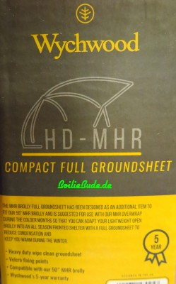 Wychwood HD Compact MHR Brolly W/GS Groundsheet