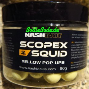 Nashbait Scopex Squid Yellow Pop Up´s 12mm, 50gr.