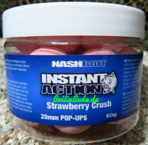 Nashbait Instant Action Strawberry Crush Pop Up´s 20mm, 60gr.